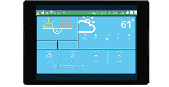 Image showing weather interface